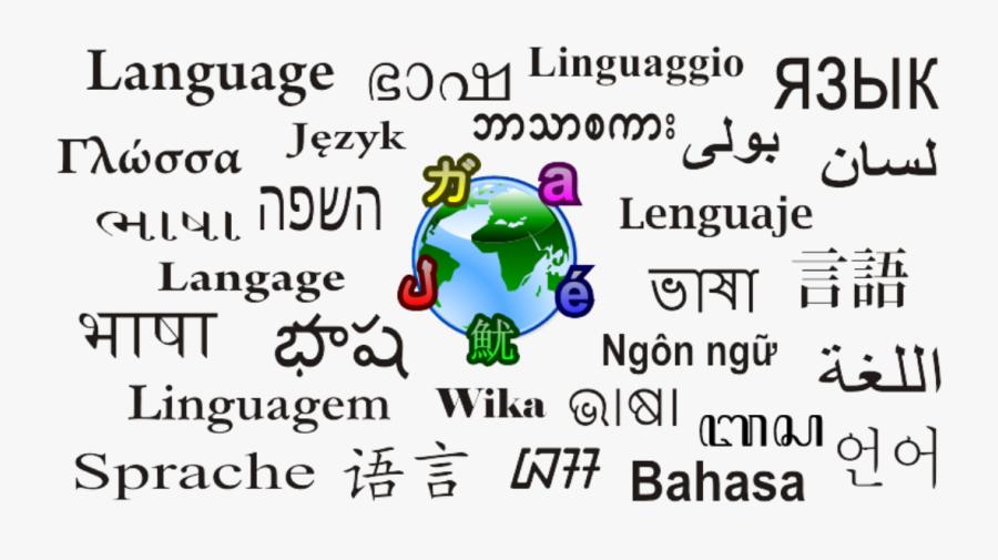 Word Language In Different Languages, Transparent Clipart