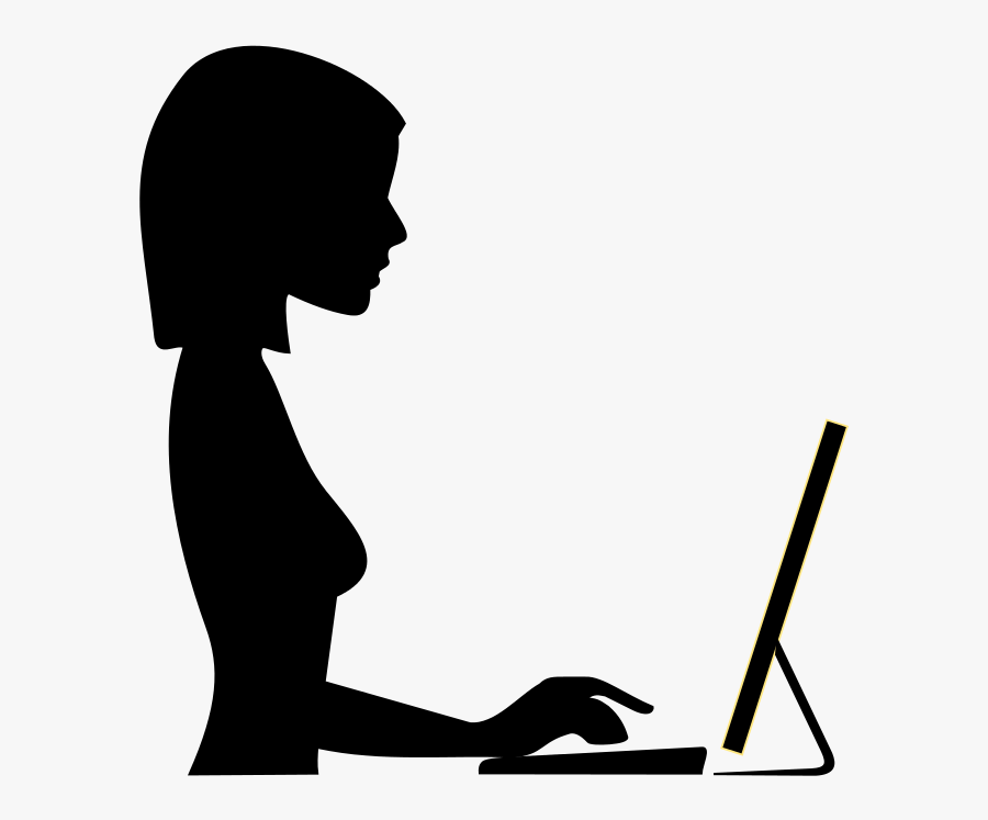 Woman Working Silhouette, Transparent Clipart