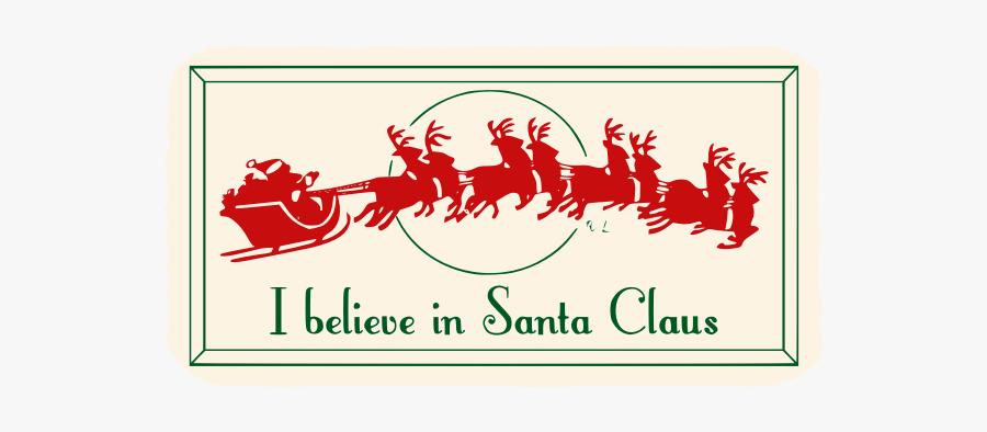 "Vintage Santa""s Sleigh - Merry Christmas Svg Free, Transparent Clipart"