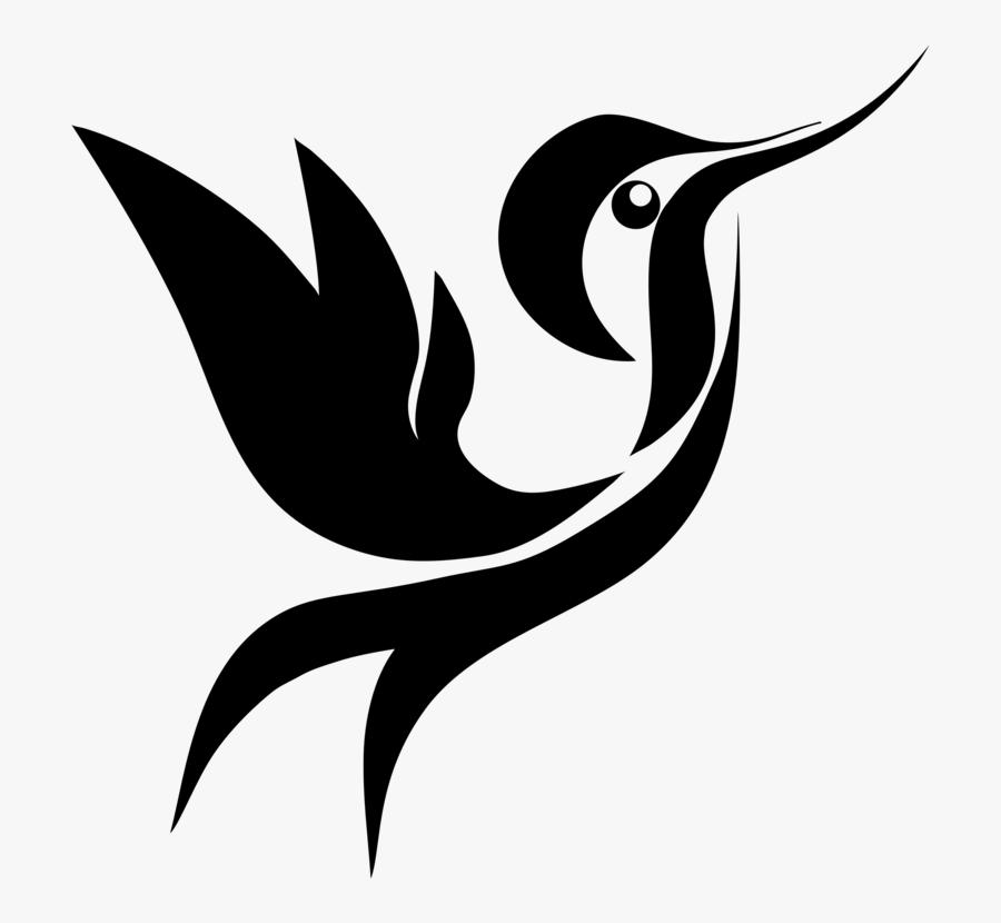 Art,monochrome Photography,beak - Hummingbird Art Black And White, Transparent Clipart