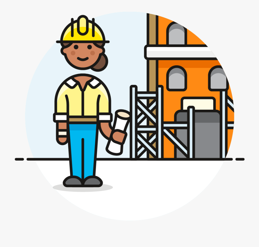 49 Constructing Site Foreman Female African American - Construction Female Worker Icons, Transparent Clipart