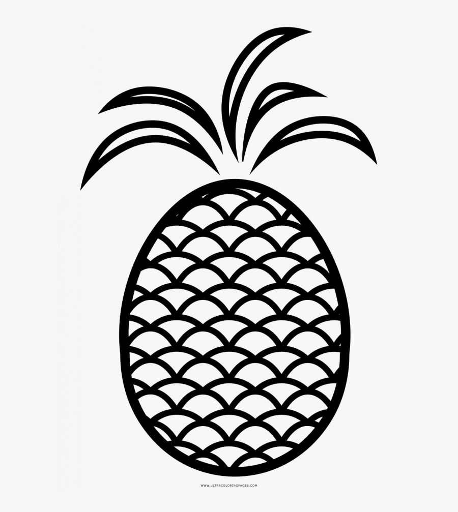 Pineapple Coloring Page, Transparent Clipart