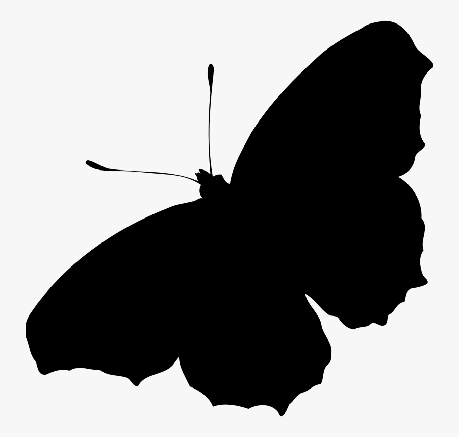Small Silhouette At Getdrawings - Butterfly Silhouette Png Transparent, Transparent Clipart