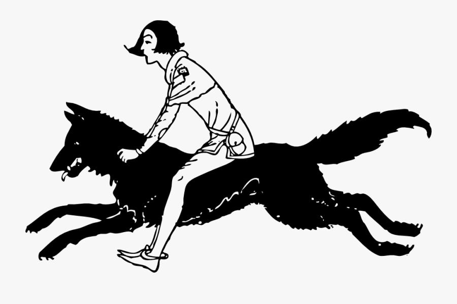 Running Wolf Tattoo - Running Wolf Silhouette, Transparent Clipart
