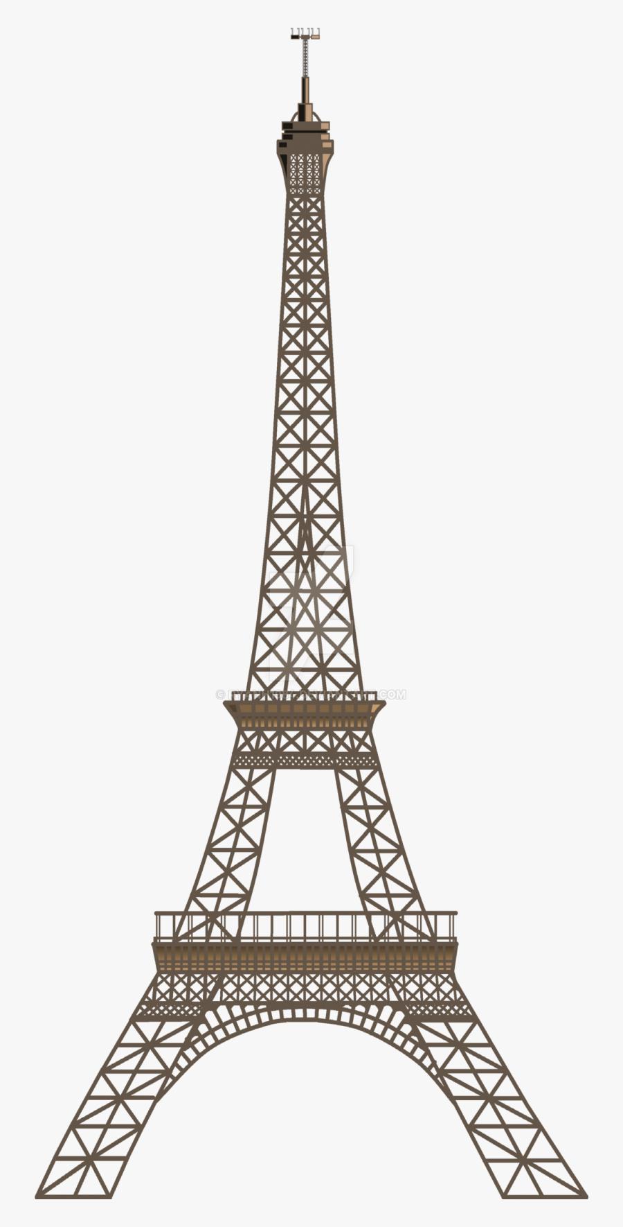 Two Dimensional Eiffel Tower - Paris Eiffel Tower Clipart, Transparent Clipart
