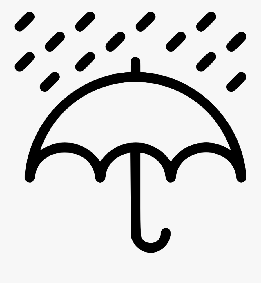 Rain Rainfall Umbrella Weather Comments - Rain Umbrella Png Icon, Transparent Clipart