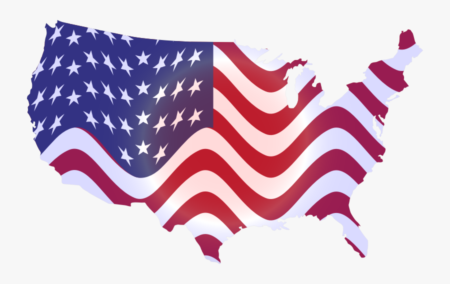 America Clipart Wavy - Us Flag Star Transparent, Transparent Clipart