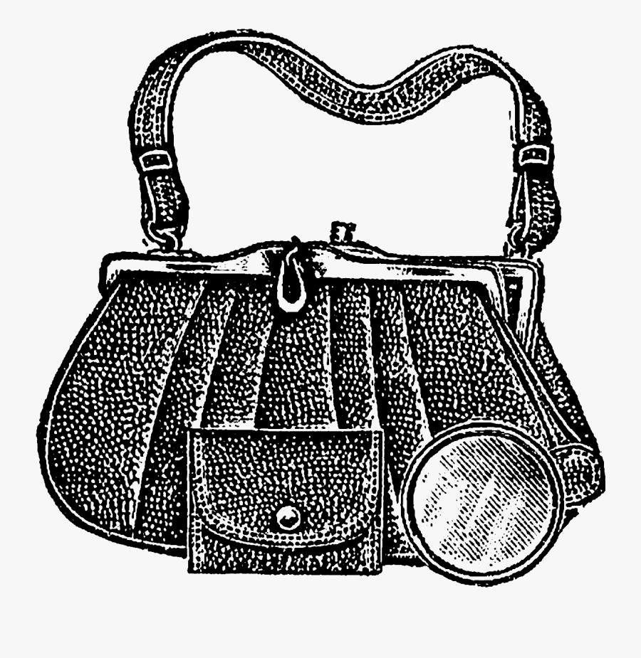 Vintage Bag - Hand Bag Design Draw, Transparent Clipart