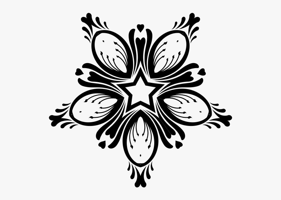 Vector Clip Art Of Flourishing Flower Bud Star Decoration - Decorative Flower Clip Art, Transparent Clipart