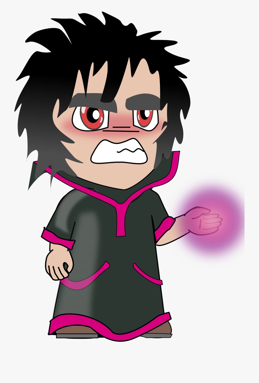 Microsoft Clipart Evil Wizard - Sorcerer Chibi, Transparent Clipart