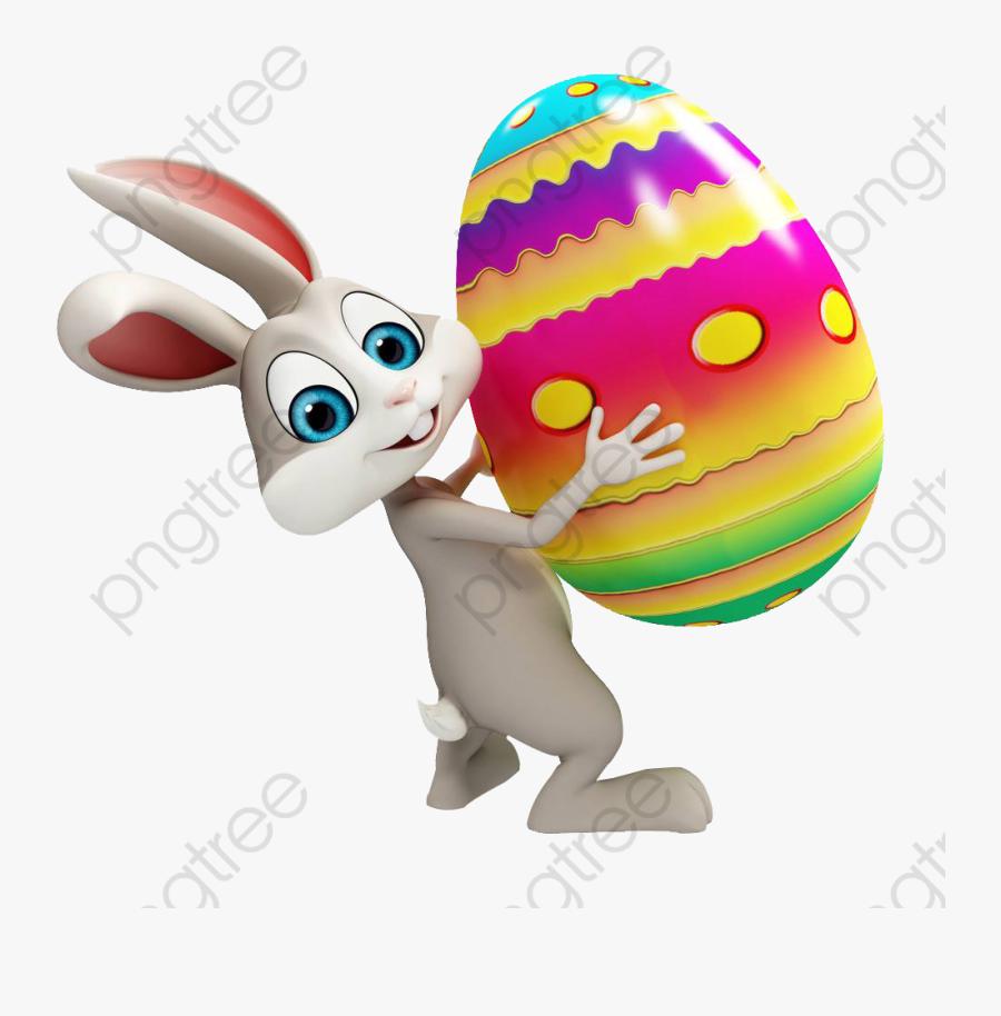 Easter Egg Clipart Bunny - Transparent Background Easter Bunny Clipart, Transparent Clipart