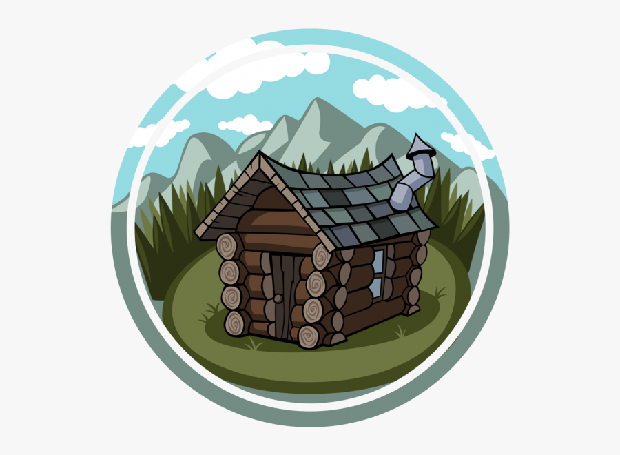 Transparent Cabin In The Woods Clipart - Mountain Cabin Cartoon, Transparent Clipart