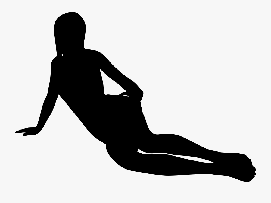 Person Lying Down Silhouette Png, Transparent Clipart