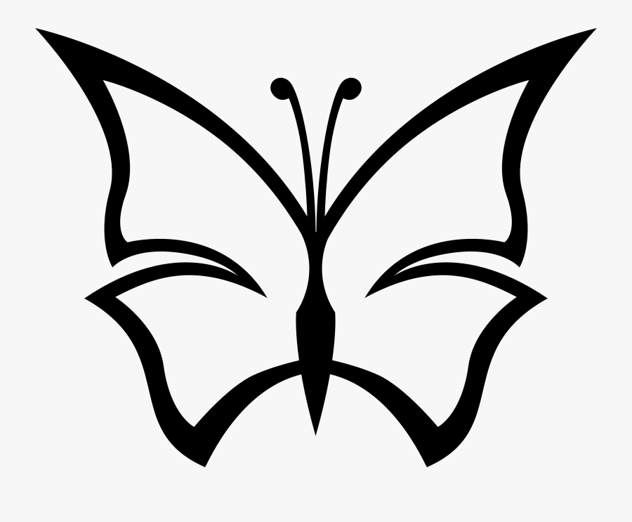 Symmetry,monochrome Photography,pollinator - Black And White Butterfly Clipart, Transparent Clipart