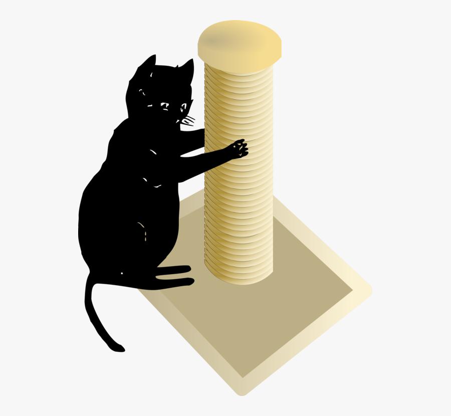 Small To Medium Sized Cats,cat Like Mammal,carnivoran - Transparent Cat Scratching Post, Transparent Clipart