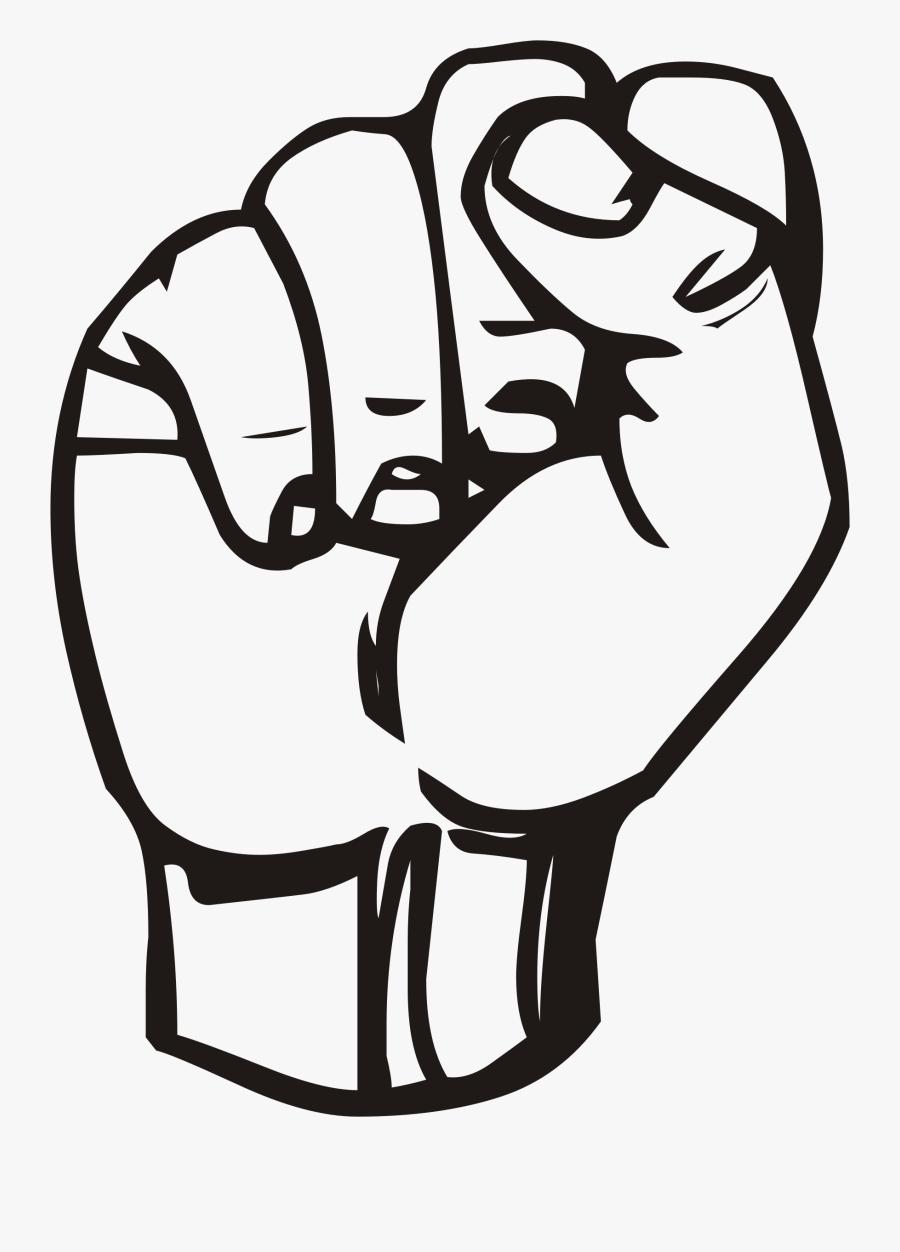 Sign Language Clipart - Fist Clipart, Transparent Clipart