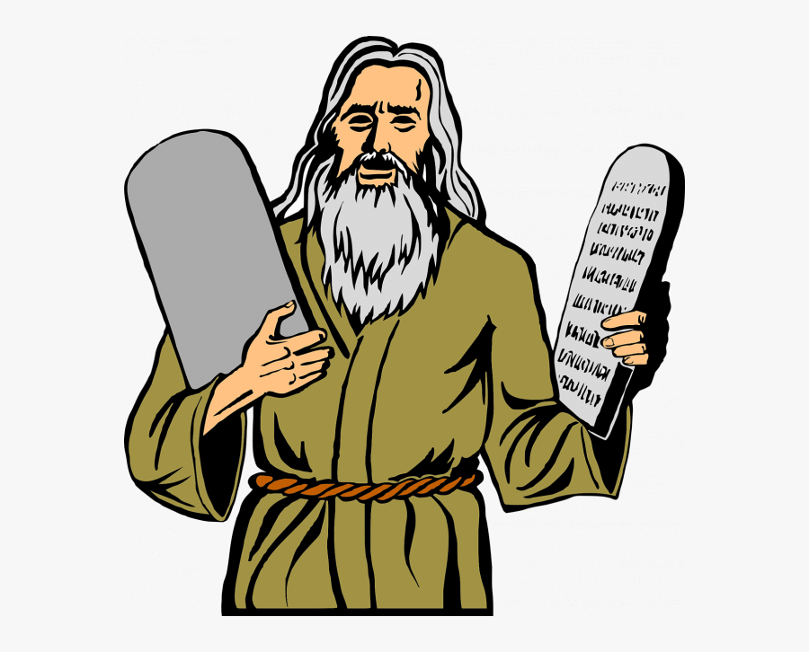 Ten Commandments Clipart Mount Sinai - Moses 10 Commandments Clipart, Transparent Clipart