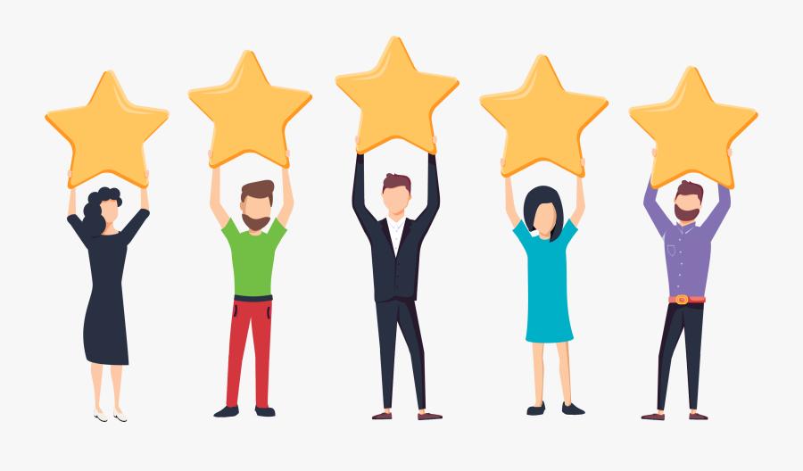 Rating System - Customer Background, Transparent Clipart
