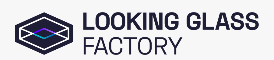 Looking Glass Factory Logo, Transparent Clipart