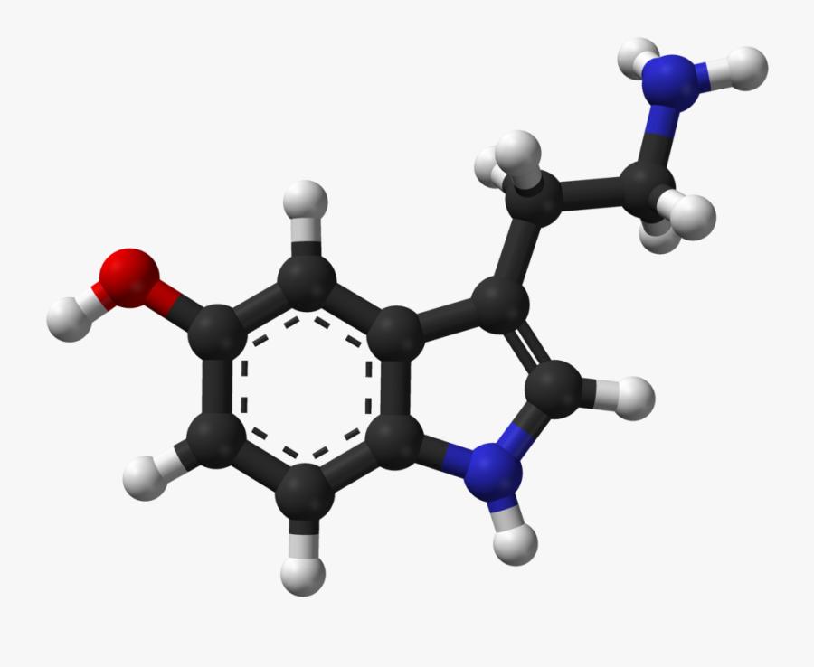 Serotonin Chemical Structure 3d, Transparent Clipart