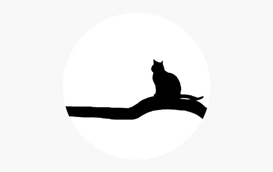 Silhouette,felidae,cat - Cat Yawns, Transparent Clipart