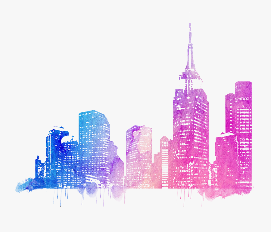 Skylines Drawing - City Skyline Drawing Png, Transparent Clipart
