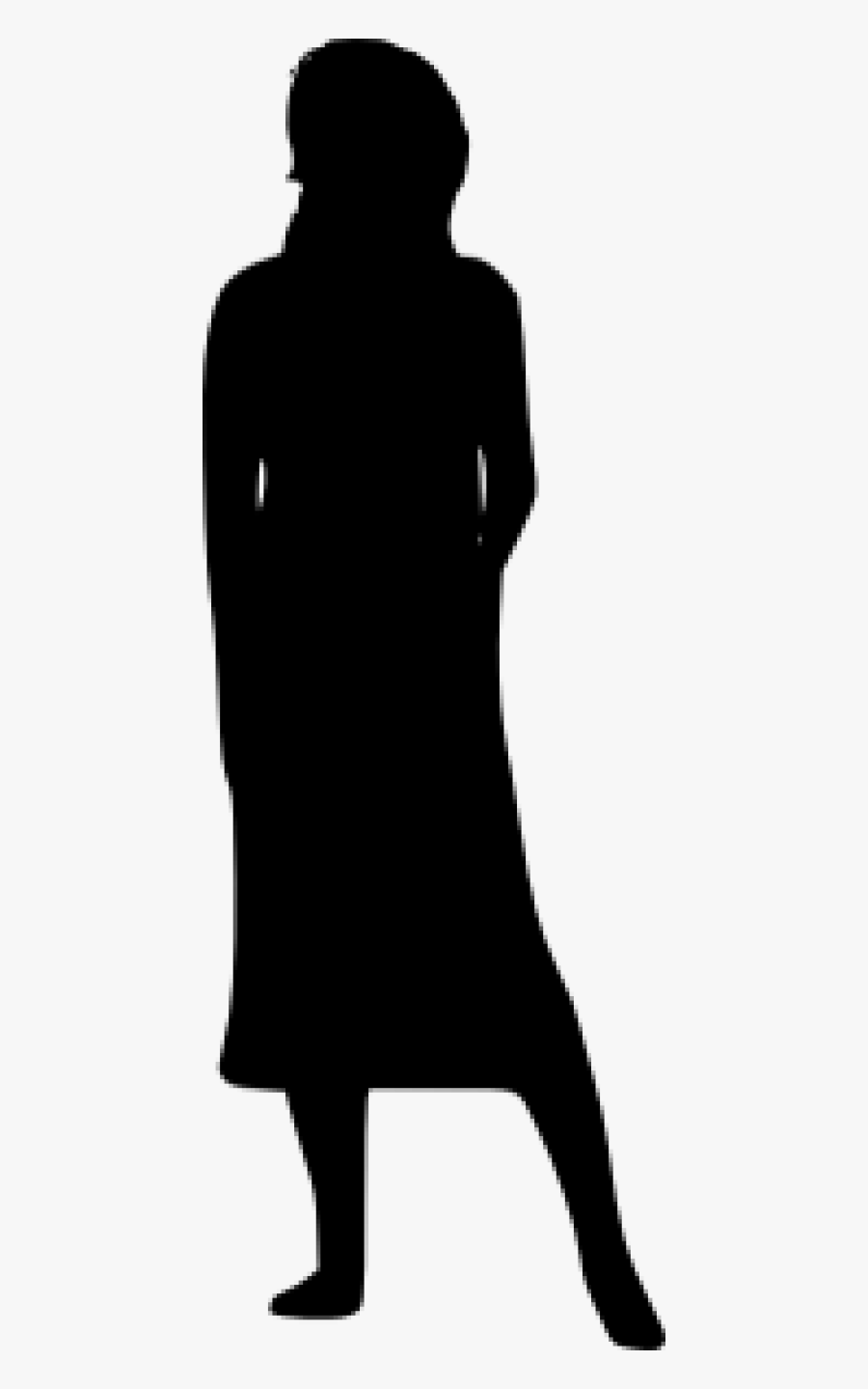 Free Png Woman Silhouette Png - Middle Aged Woman Silhouette, Transparent Clipart