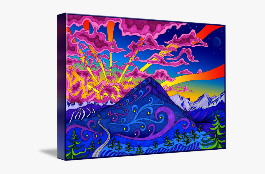 Drawing Markers Sunset - Trippy Sunset Painting, Transparent Clipart