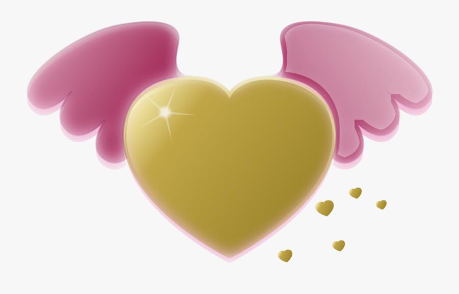 Pink,heart,computer Wallpaper - Pink Gold Heart Clipart, Transparent Clipart