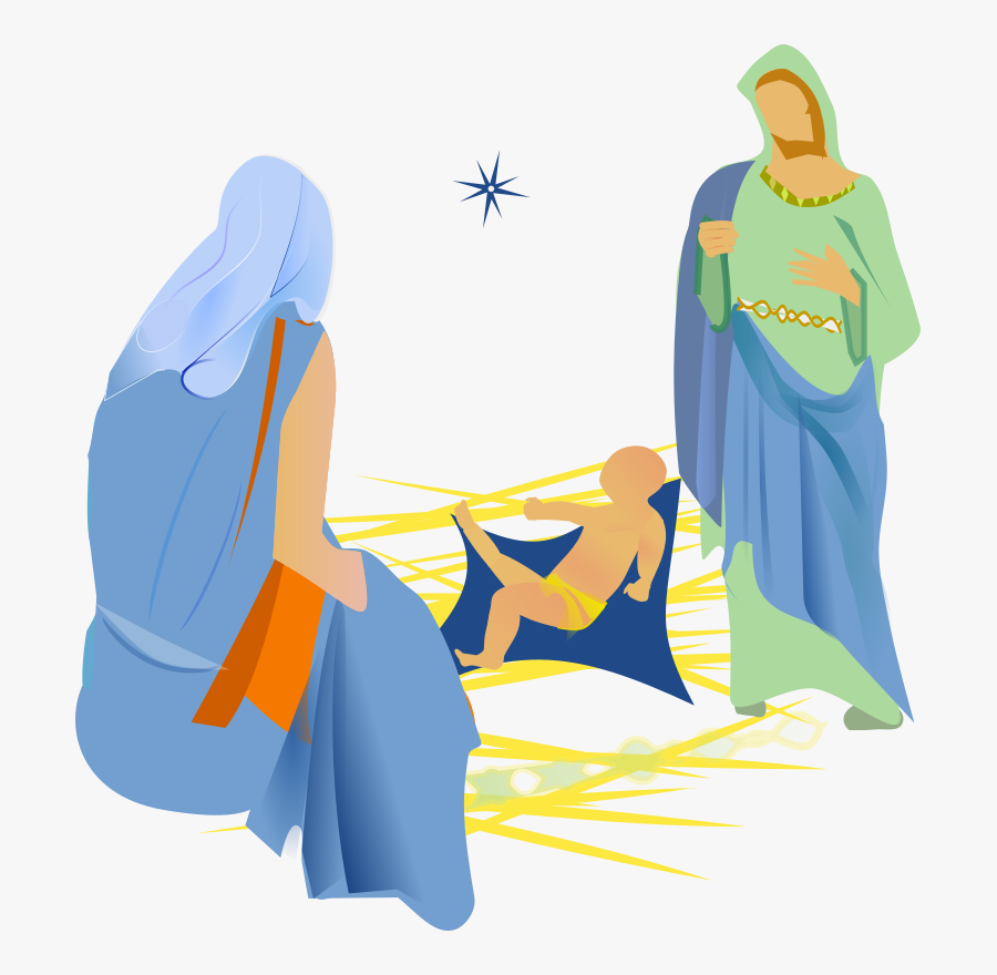 Medium Image Png - Mary Joseph And Jesus Png, Transparent Clipart