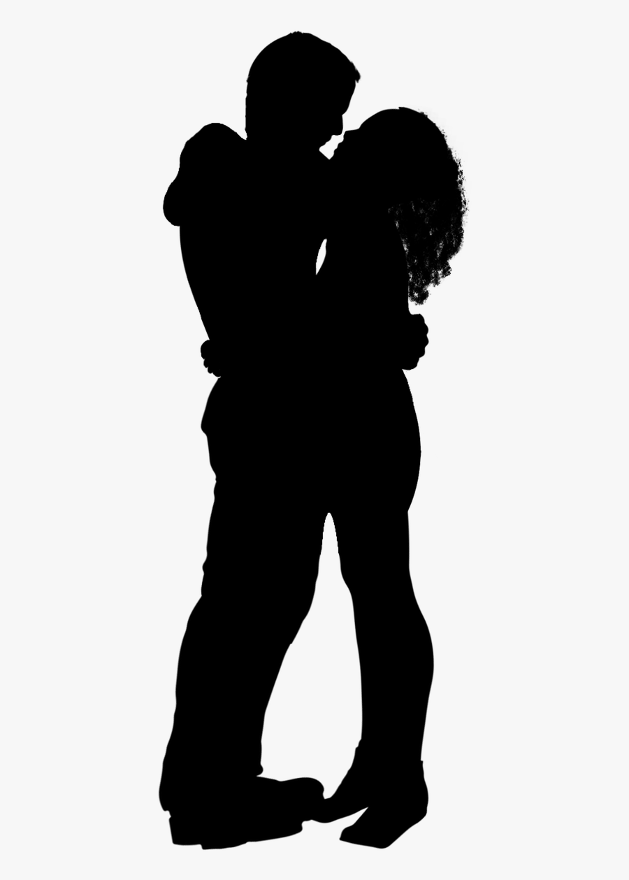 Silhouette Love Romance Film - Boy And Girl Hugging Silhouette, Transparent Clipart