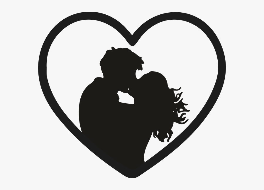 Most Romantic Bedroom Kisses Images Girl And Boys Lip - Couple Kissing Silhouette Png, Transparent Clipart