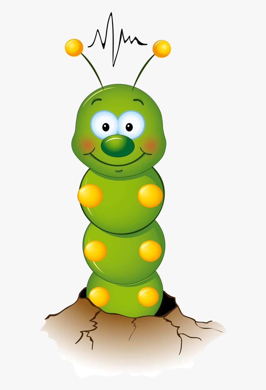 Transparent Caterpillar Clipart Worm Cartoon Drawing Free