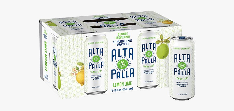 Lemon Lime Alta Palla Sparkling Water - Juicebox, Transparent Clipart