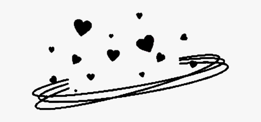 Aesthetic Black Heart Png, Transparent Clipart