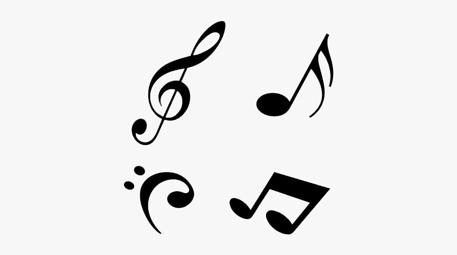 Musical Note Clip Art - Transparent Clear Background Music Notes Clipart, Transparent Clipart