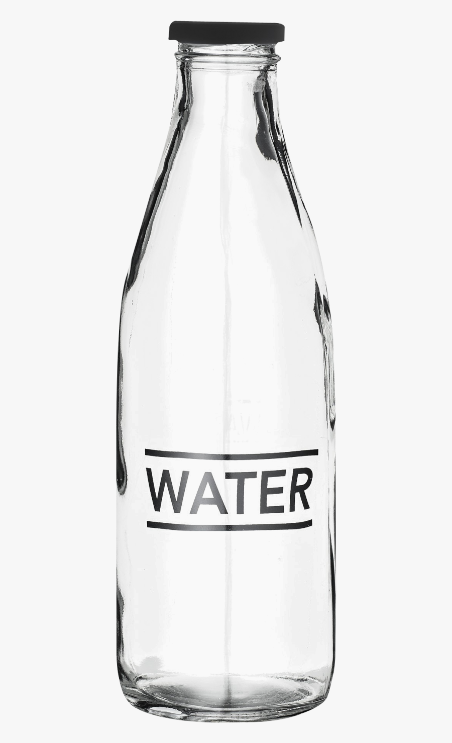 Glass Water Bottle Png Image - Glass Water Bottle Transparent, Transparent Clipart