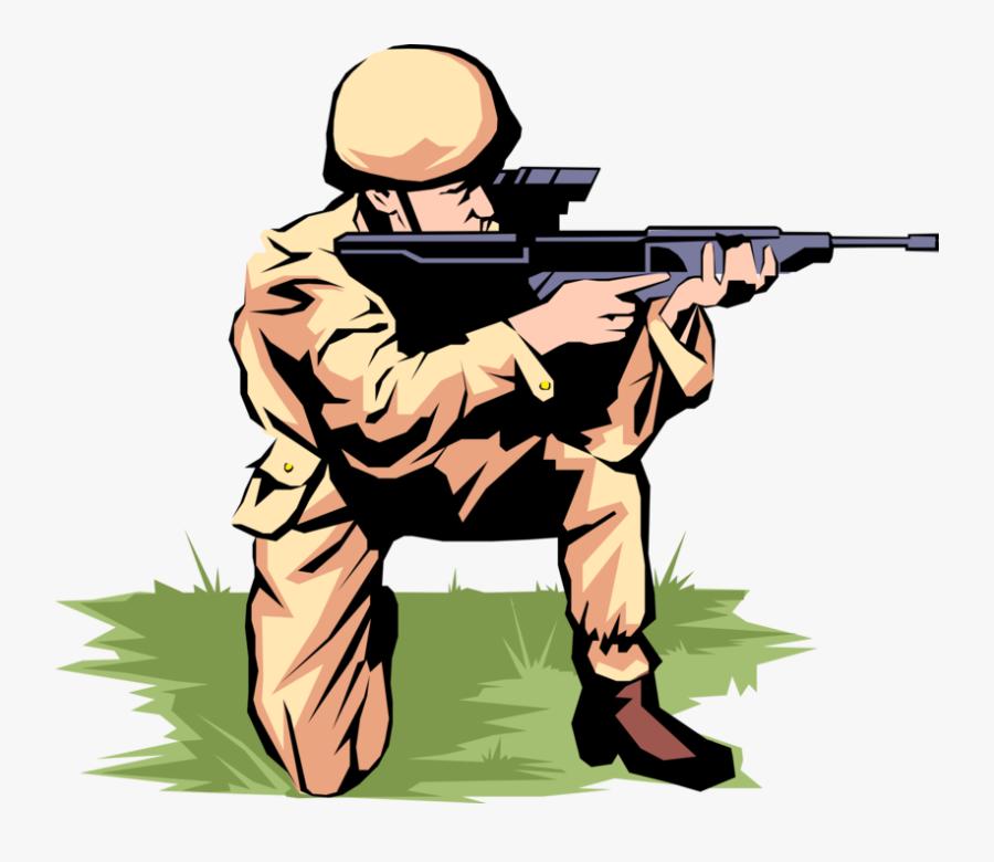 Transparent Cute Soldier Clipart - Clipart Png Soldier Shooting, Transparent Clipart