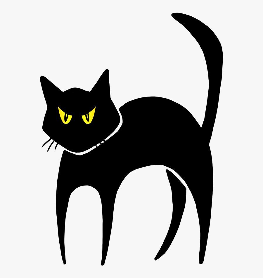 Halloween Images Free Wallsviews - Halloween Black Cat Clip Art, Transparent Clipart