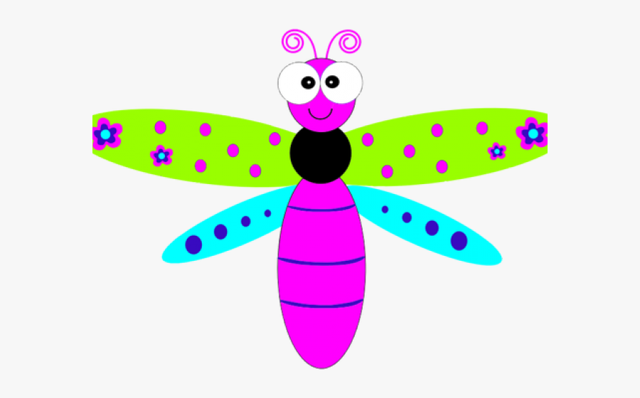 Dragonfly Clipart Scroll - Friendly Dragonfly Clipart, Transparent Clipart