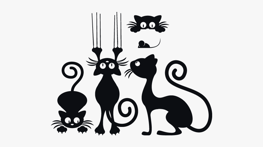 Wall Stickers Cat Png, Transparent Clipart