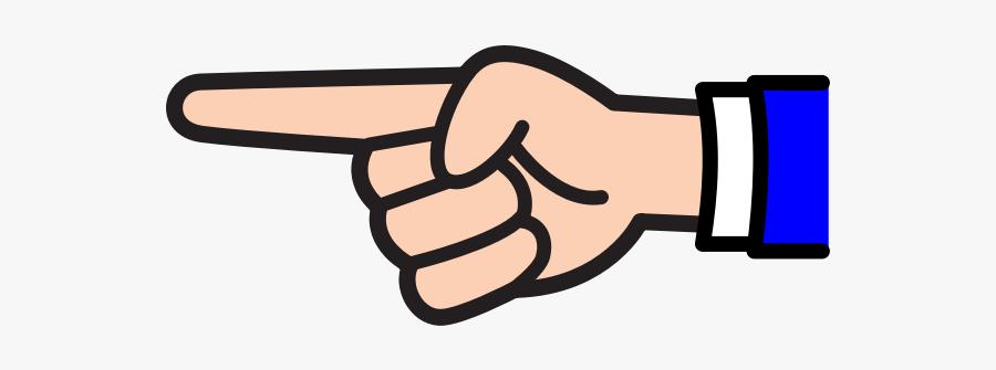 Finger Pointing V2 - Pointing Finger Clipart, Transparent Clipart
