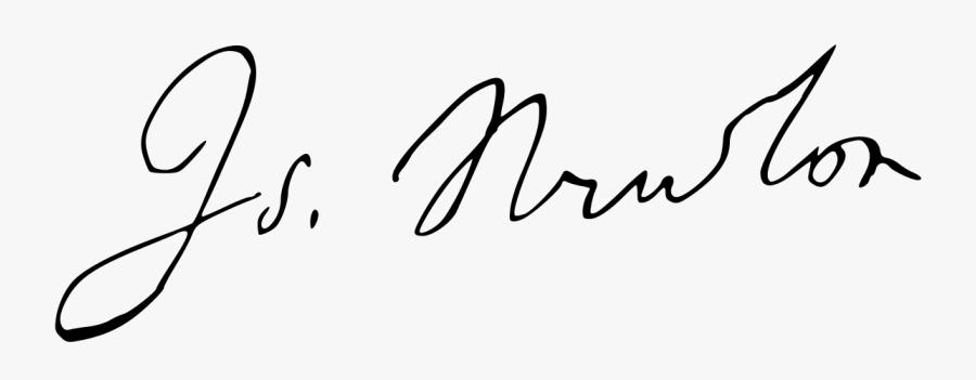 Isaac Newton Signature, Transparent Clipart
