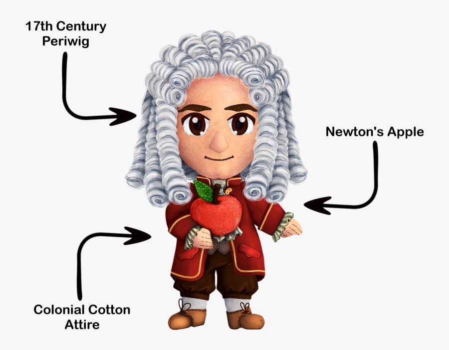 Transparent Isaac Newton Clipart - Cartoon Clipart Isaac Newton, Transparent Clipart