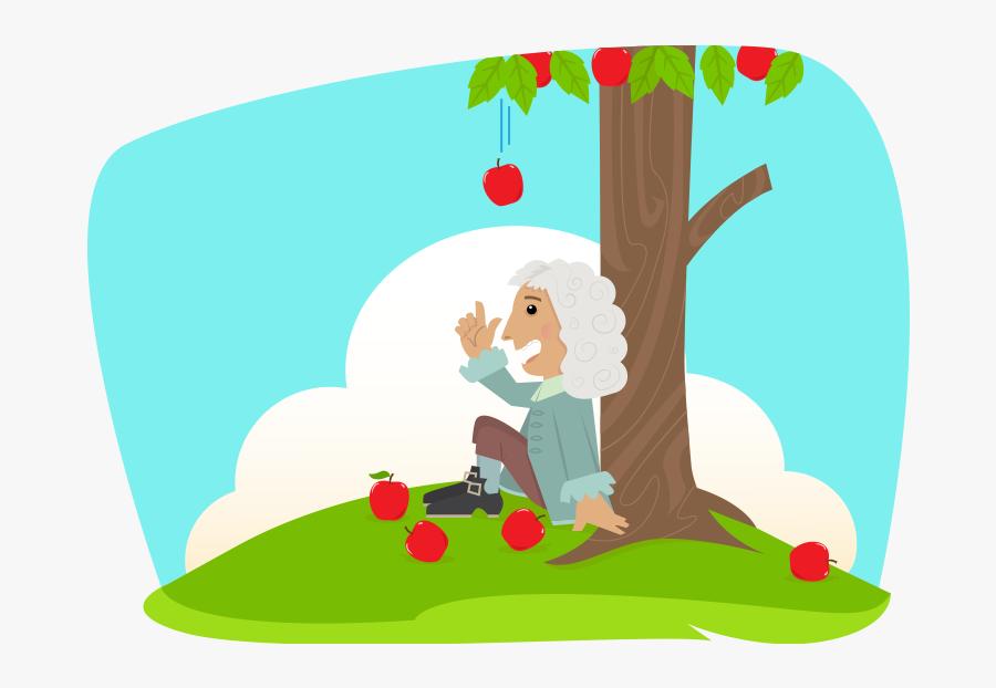 Isaac Newton Sitting Under A Tree Logo, Transparent Clipart