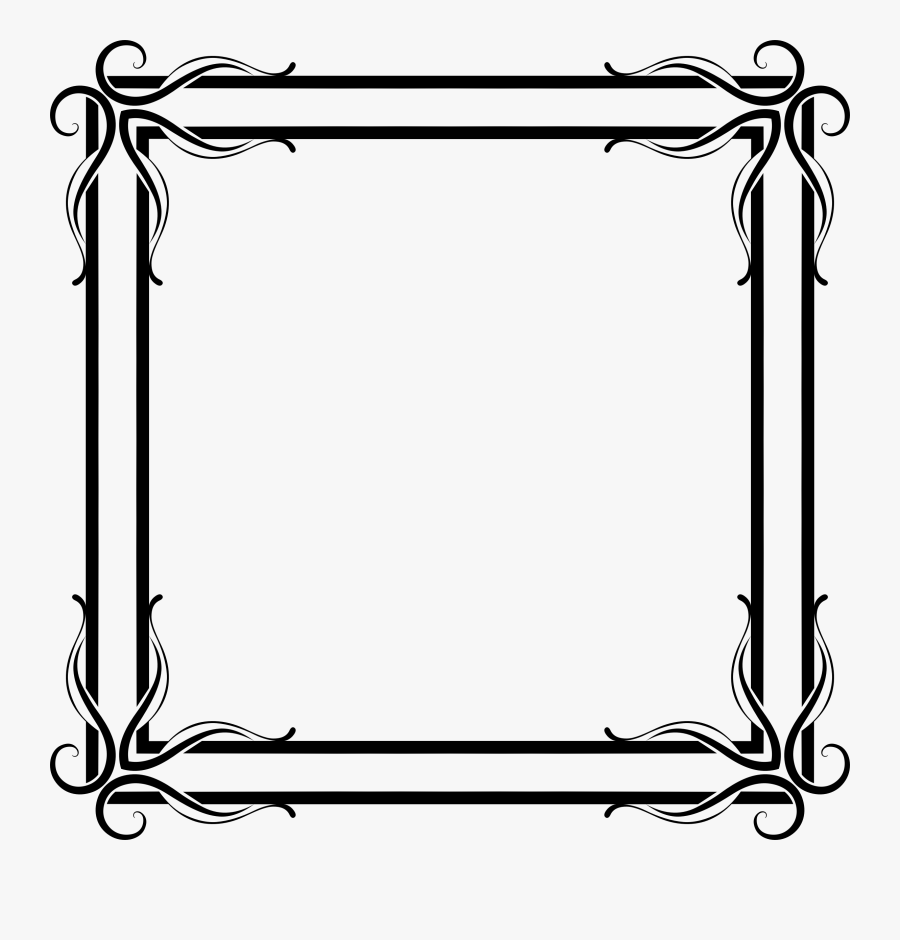 Picture Frames The Fairies Chamber Line Art Fairy Decorative - Frames Clipart Black And White Png, Transparent Clipart