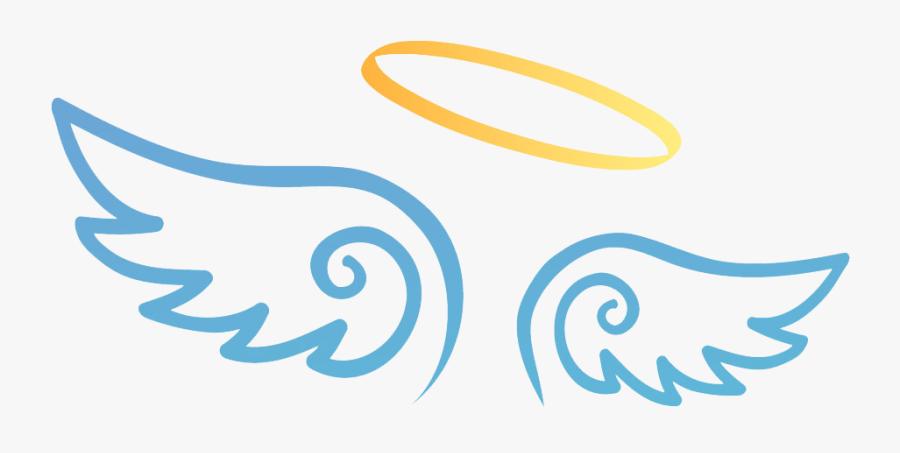 Transparent Devil Clipart - Halo And Wings Png, Transparent Clipart