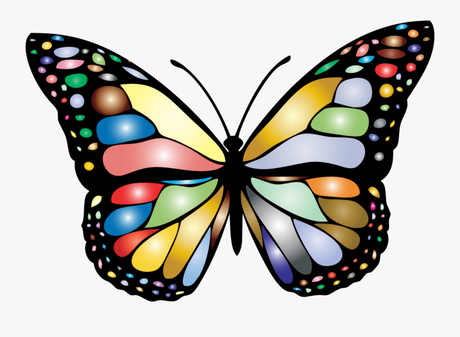Black And Grey Butterfly, Transparent Clipart