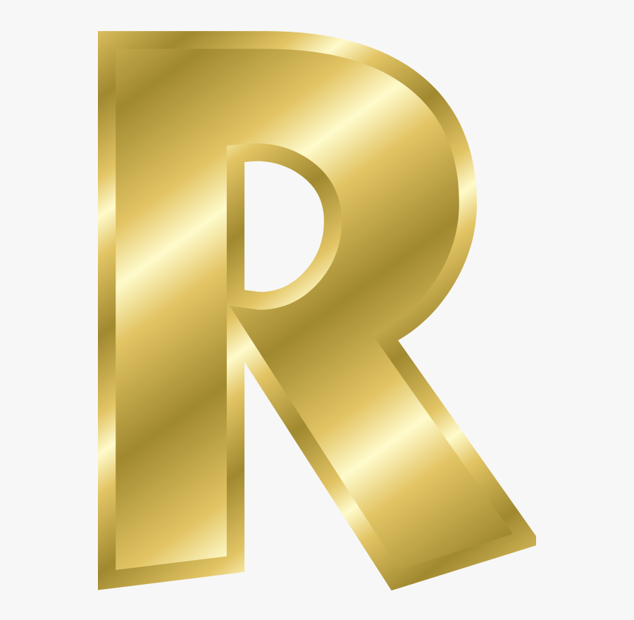 Effect Letters Alphabet Gold - Letter R In Gold, Transparent Clipart