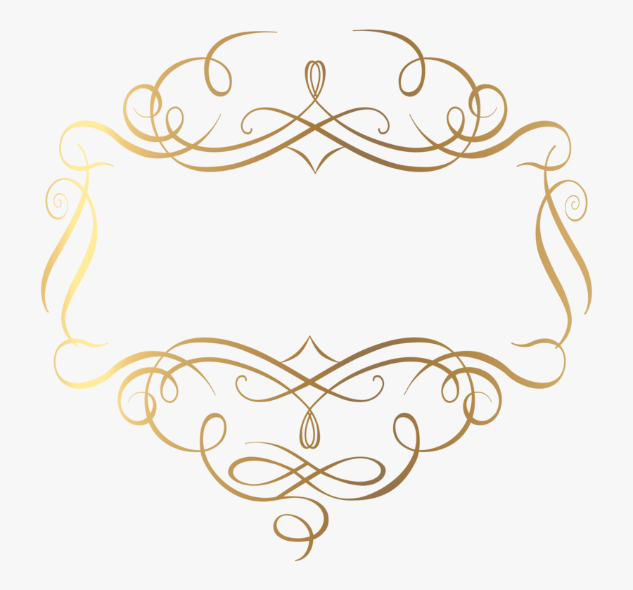 Clipart Black And White Download Gold Decoration Png - Gold Frame Clipart Transparent Background, Transparent Clipart